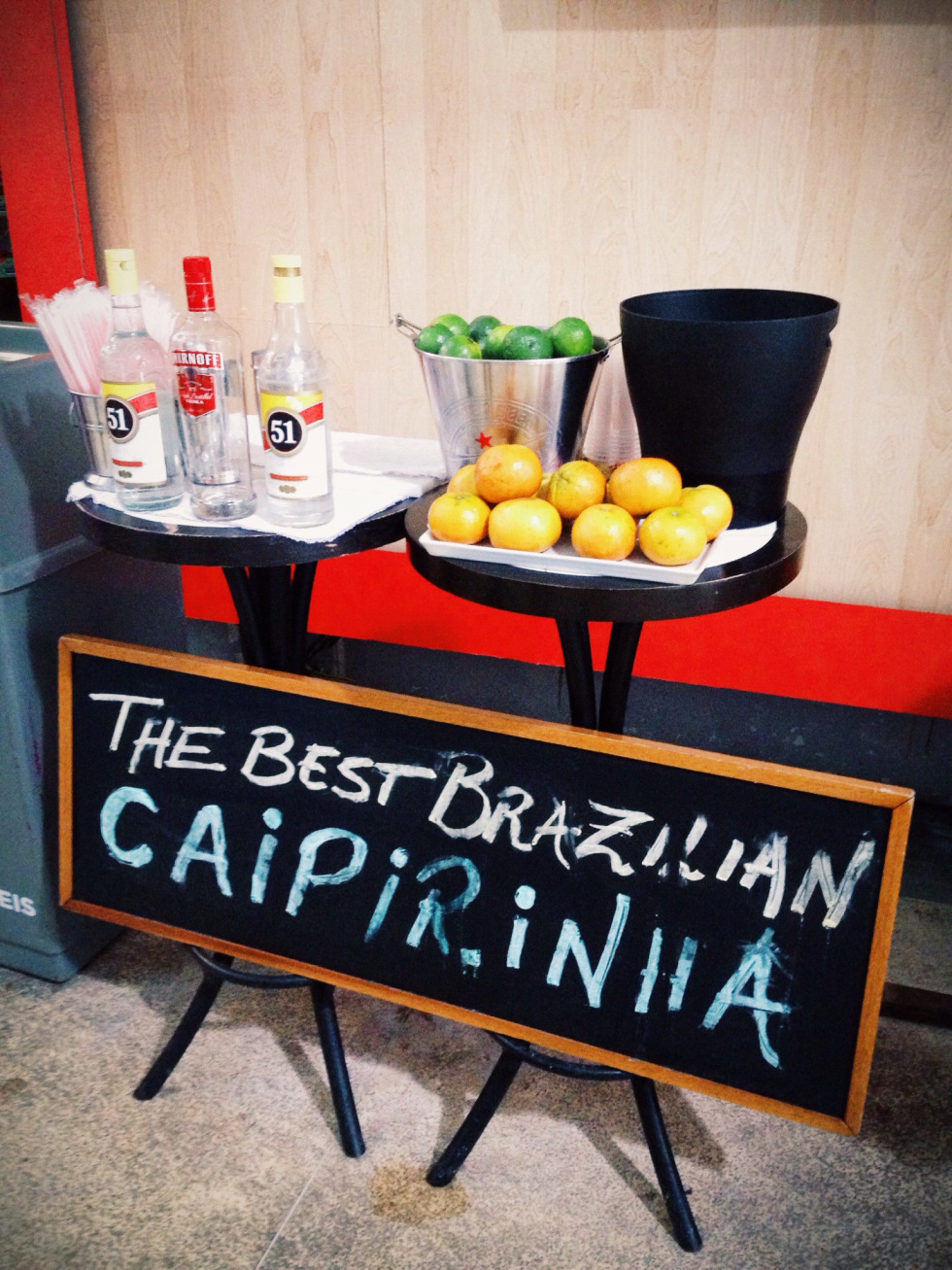 Saving the best for last, one cannot forget to mention the national drink, the caipirinha! Beers such as Skol, Shin or Brahma were alright, and Brazilian Rose or Chardonnay had a place in my heart. However, nothing beats the sweet and sour combination of sugar muddled with lime, finished off with a long pour of strong Brazilian cachaca and lots of ice. This drink was inexpensive, at about ten real, and easily found absolutely anywhere from fine dining restaurants to street side carts. This was my go to drink during my entire stay. You can't go wrong with a caipirinha- the beverage that's refreshing, flavorful, and cheap, but strong enough to start- or end- every night in the right way.