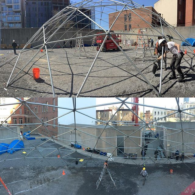 Great crew today. Dome down disassembled in 4 hours.