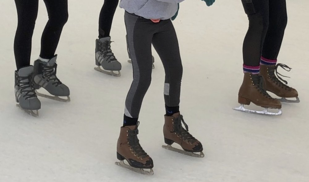 Not sure who's feet these are, but check out these skates! If you've never tried it, you should someday.