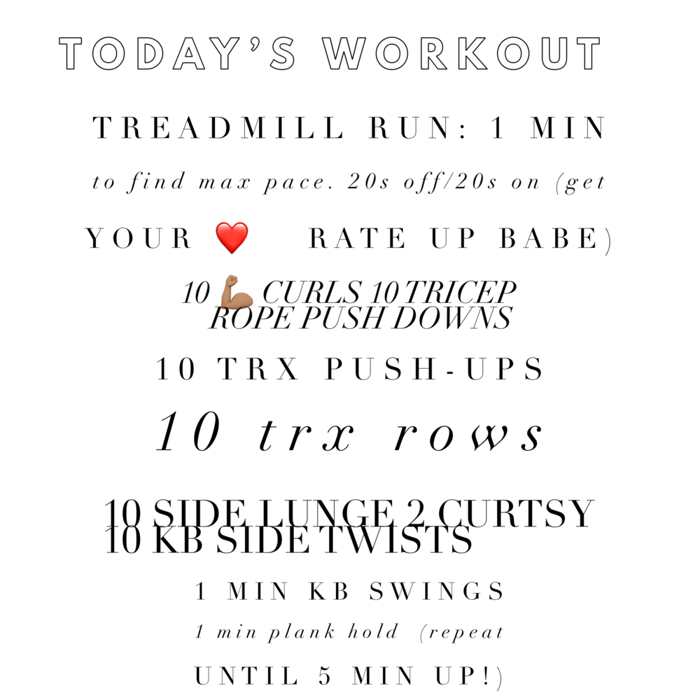 Do EACH pair for 5 minutes! Go through as many rounds as you can (per set)! Challenge yourself to grab heavy weights for you!!!! this workout can be done in less than 45 minutes ;)