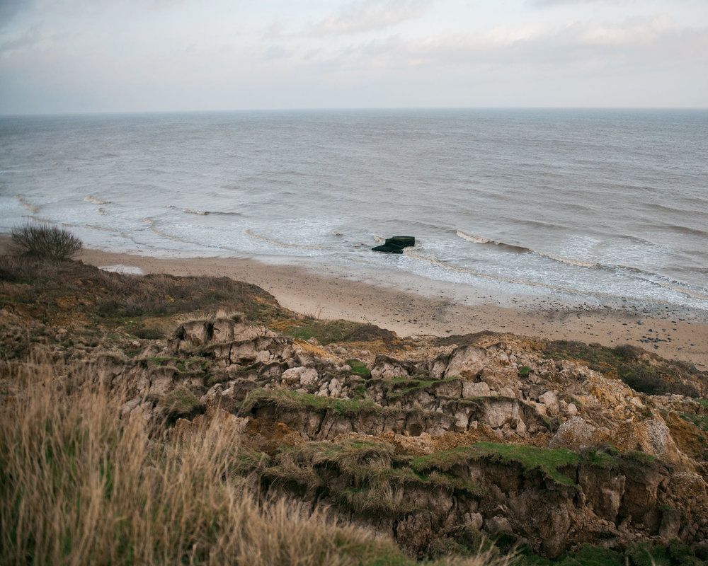 A First World War bunker illustrates just how far the coast has eroded in the last 100 years.