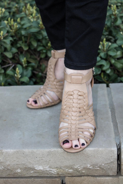 tan block heel sandals