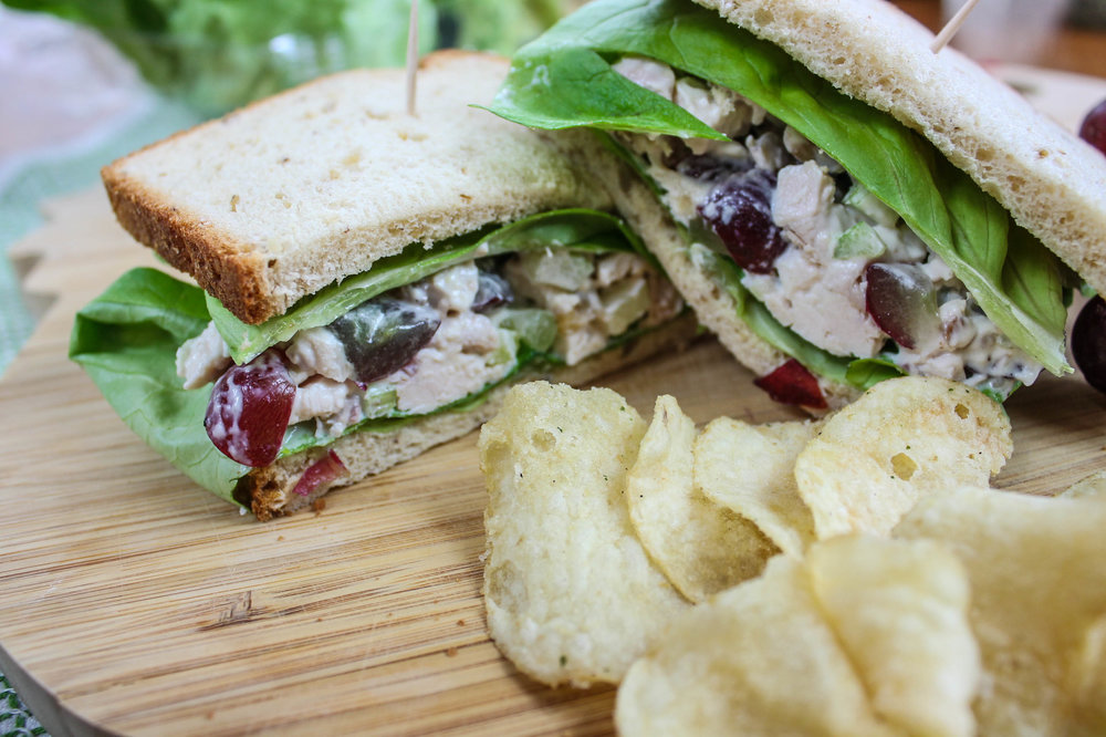 picnic food sandwiches kettle chips