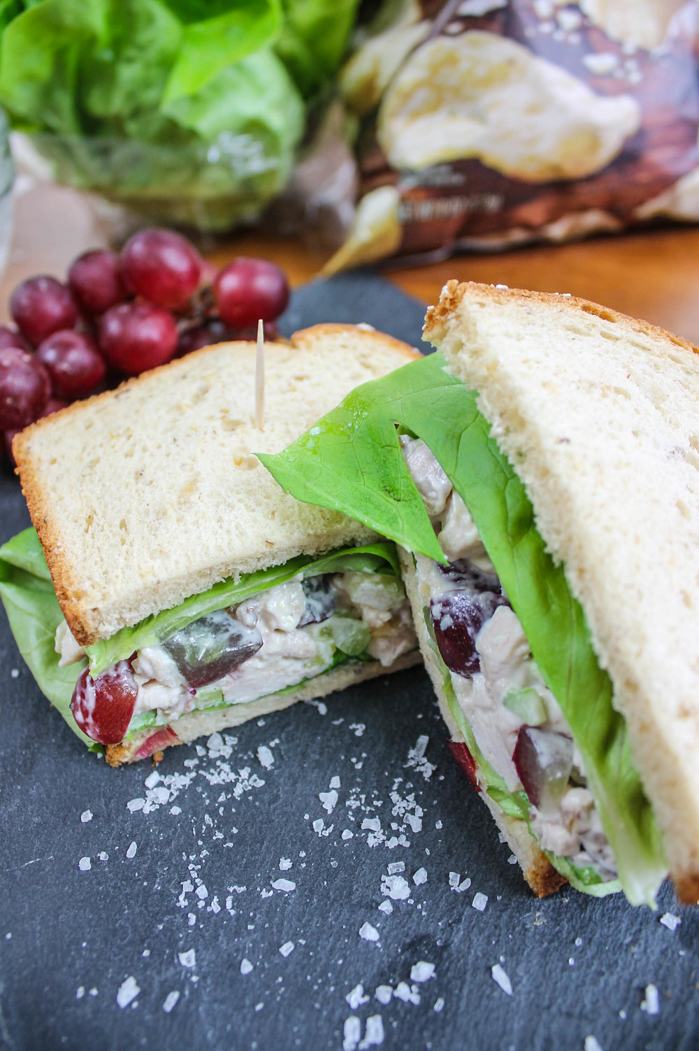 chicken salad sandwiches lunch