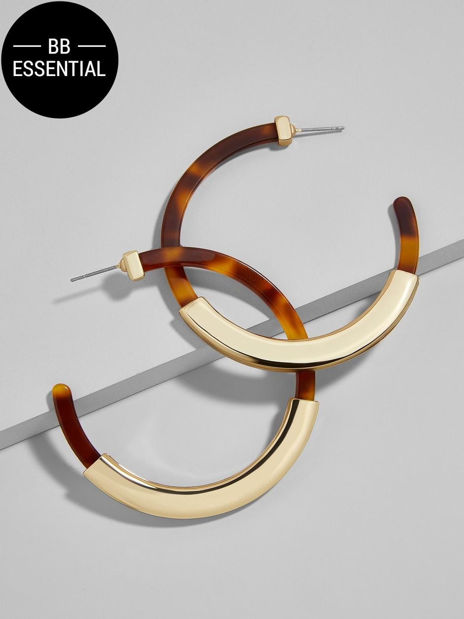 Tassiana Hoop Resin Earrings - $36 at  BaubleBar