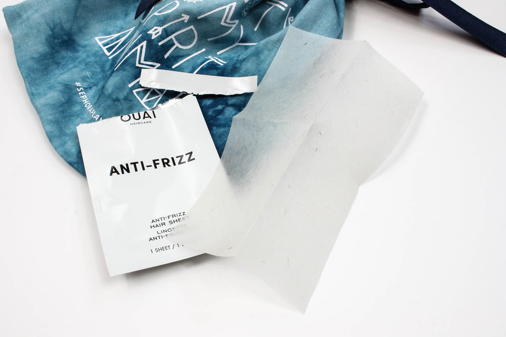 Ouai - Anti-Frizz Hair Sheets ($18 for full-size box at  Sephora )