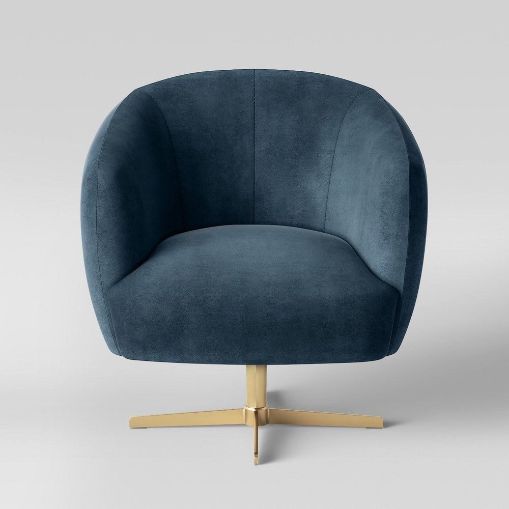 Opalhouse Morpho Swivel Velvet Arm Chair