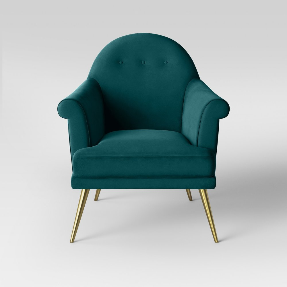 Opalhouse Myna Tufted Velvet Arm Chair