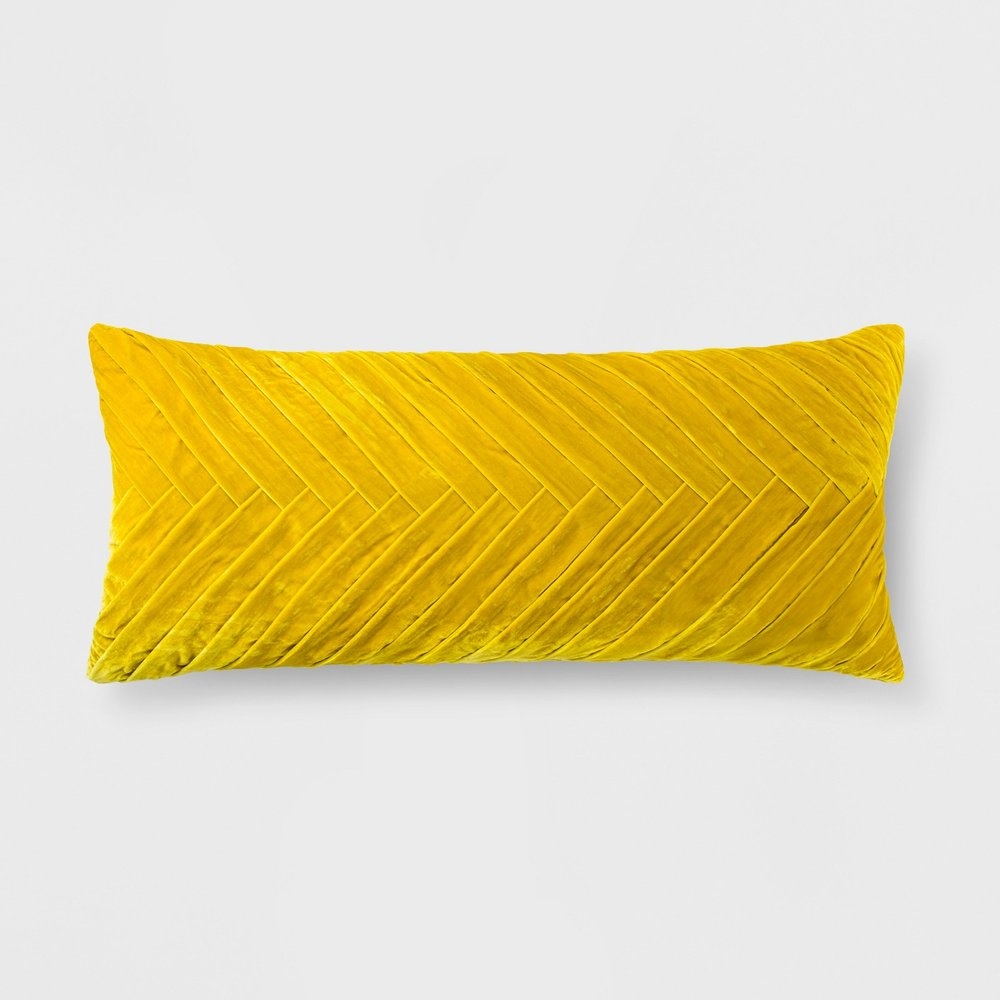 Opalhouse Pleated Velvet Oversized Lumbar Pillow