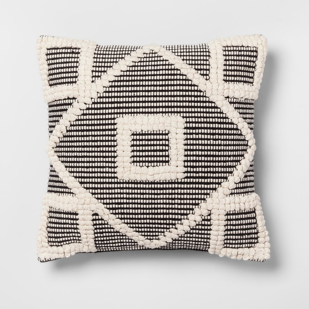 Opalhouse Black Diamond Throw Pillow