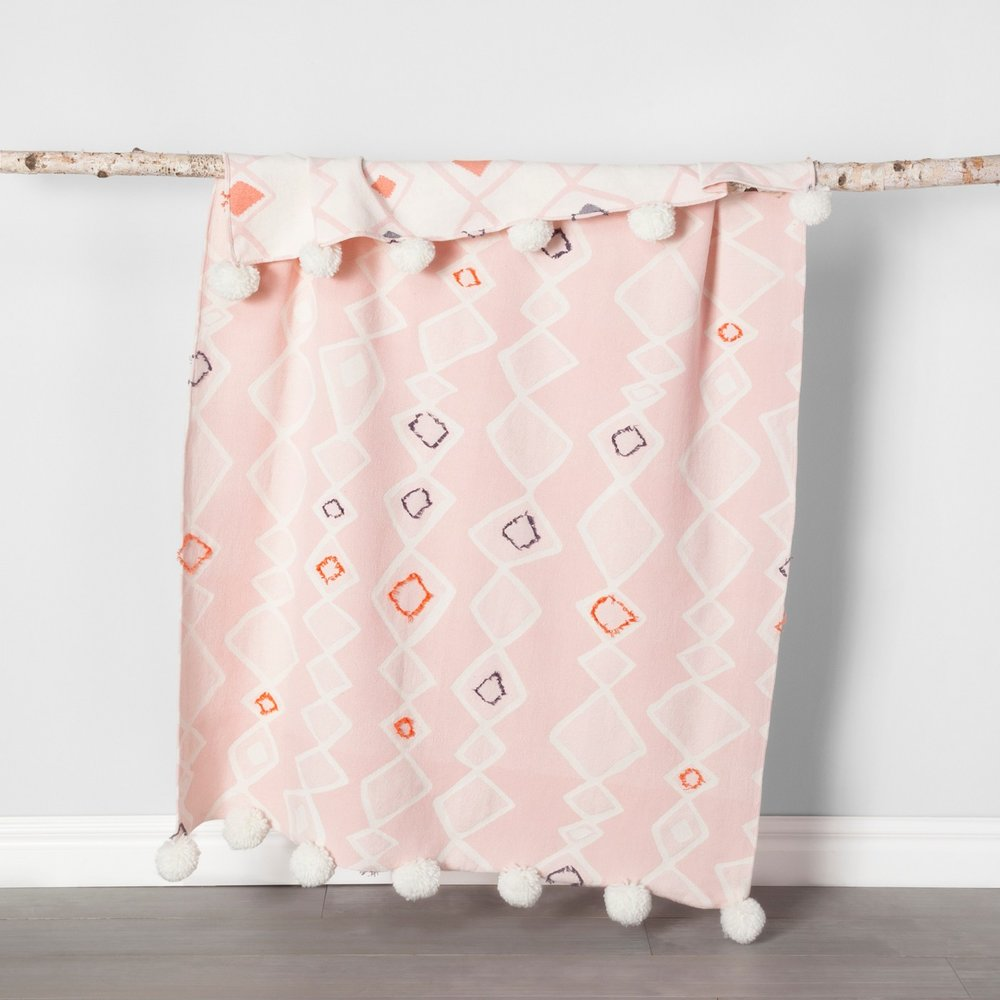 Opalhouse Pink Global Throw Blanket