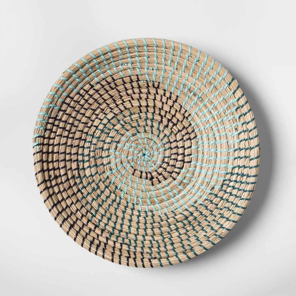 Opalhouse Seagrass Woven Serving Bowl Blue