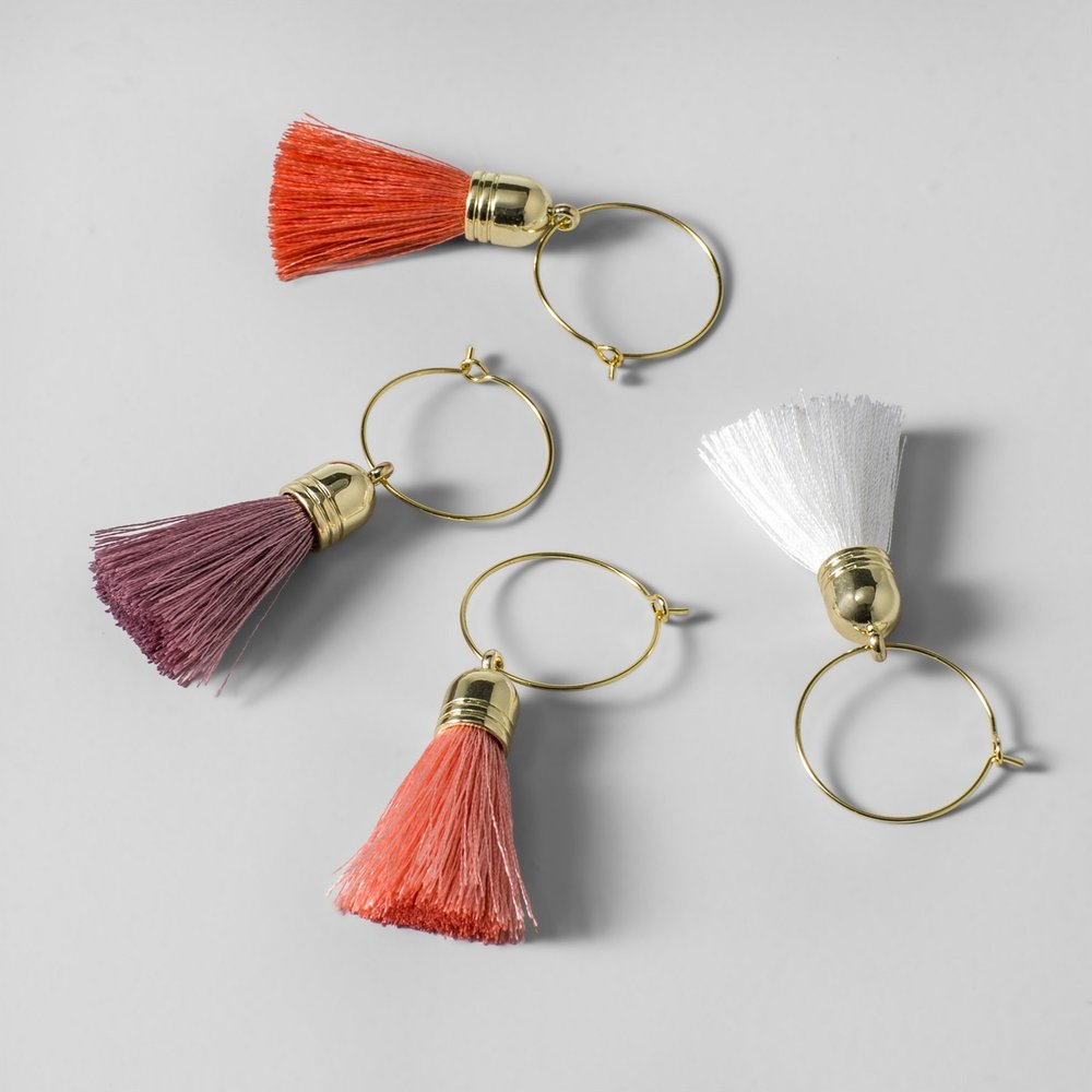 Opalhouse Tassel Wine Charms