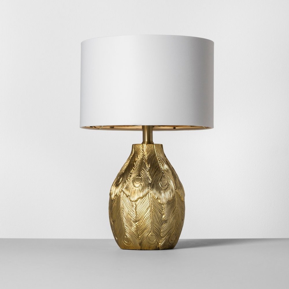 Opalhouse Peacock Feather Table Lamp Brass