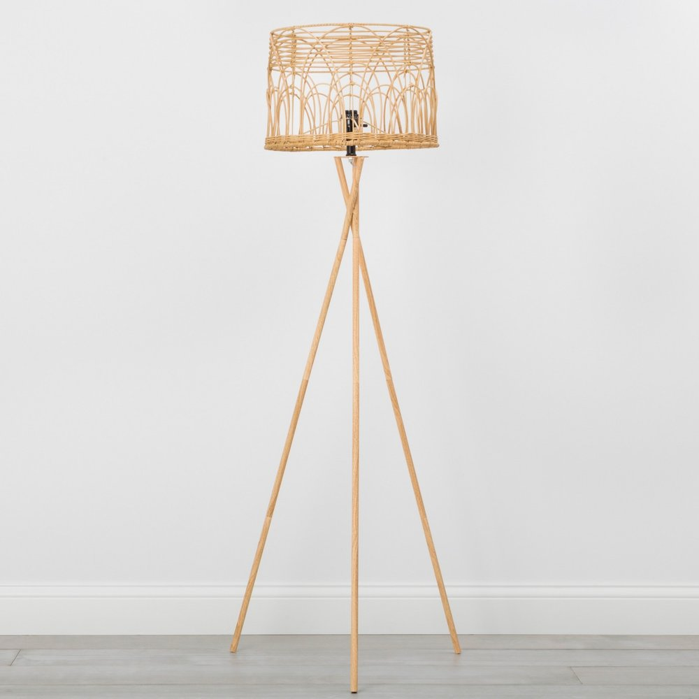 Opalhouse Rattan Tripod Floor Lamp Natural
