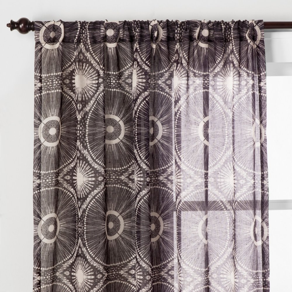 Opalhouse Sheer Medallion Curtain Panel Black