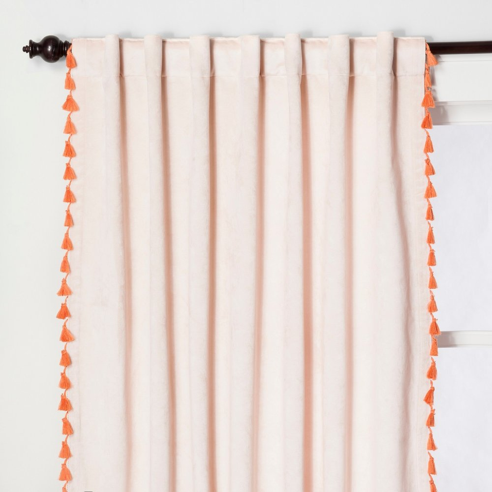 Opalhouse Velvet Curtain with Tassels