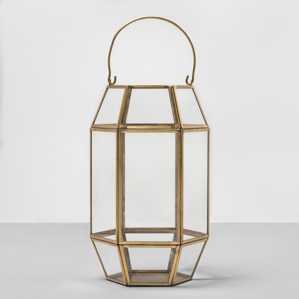 Opalhouse Outdoor Lantern Glass with Gold Frame