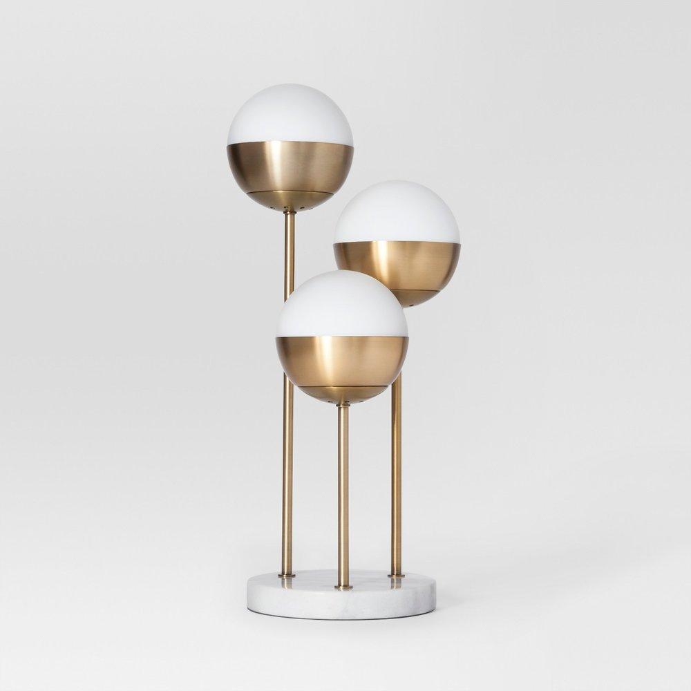 Triple Globe Glass Table Lamp