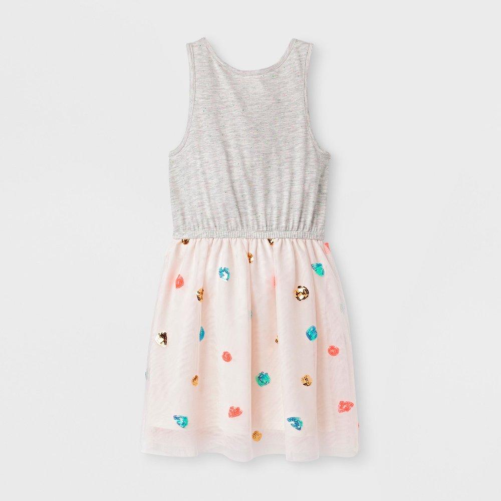 Girls' Sleeveless Sequin Dress