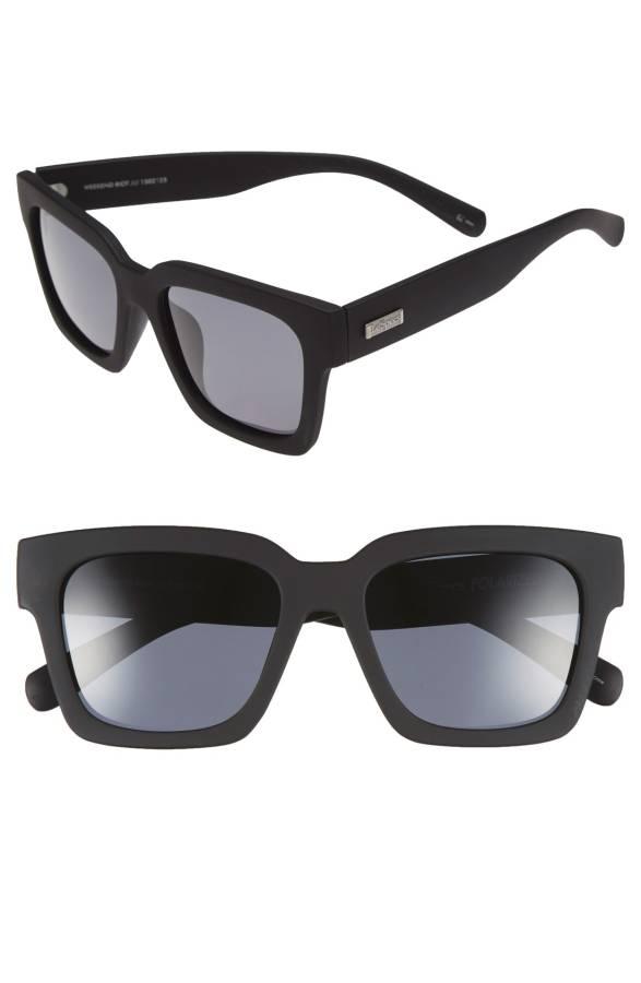 Le Specs Square Black Sunglasses