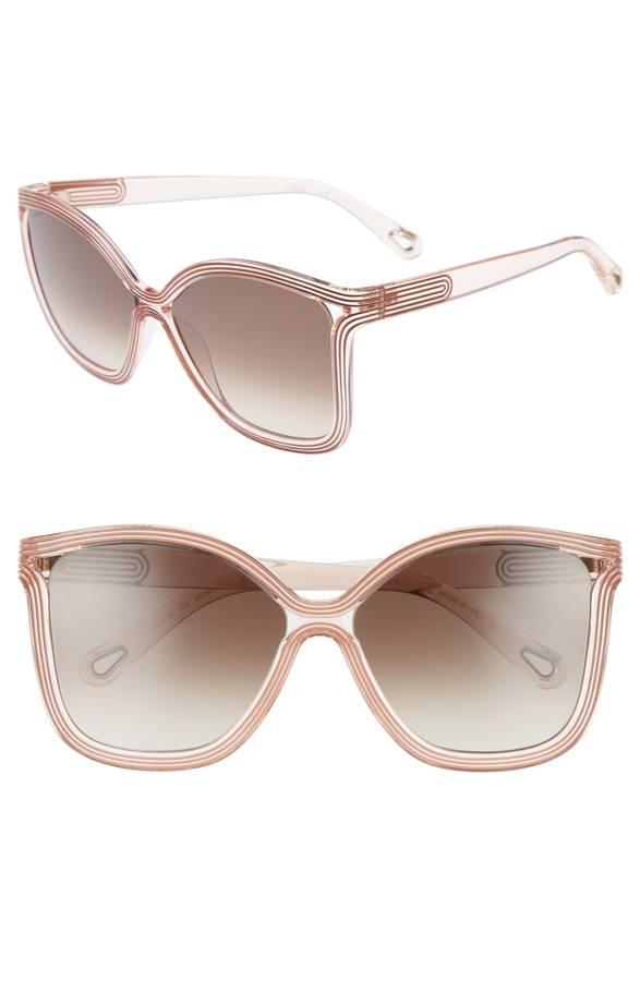 Blush Square Sunglasses