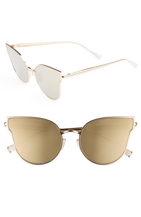 Metallic Cateye Sunglasses