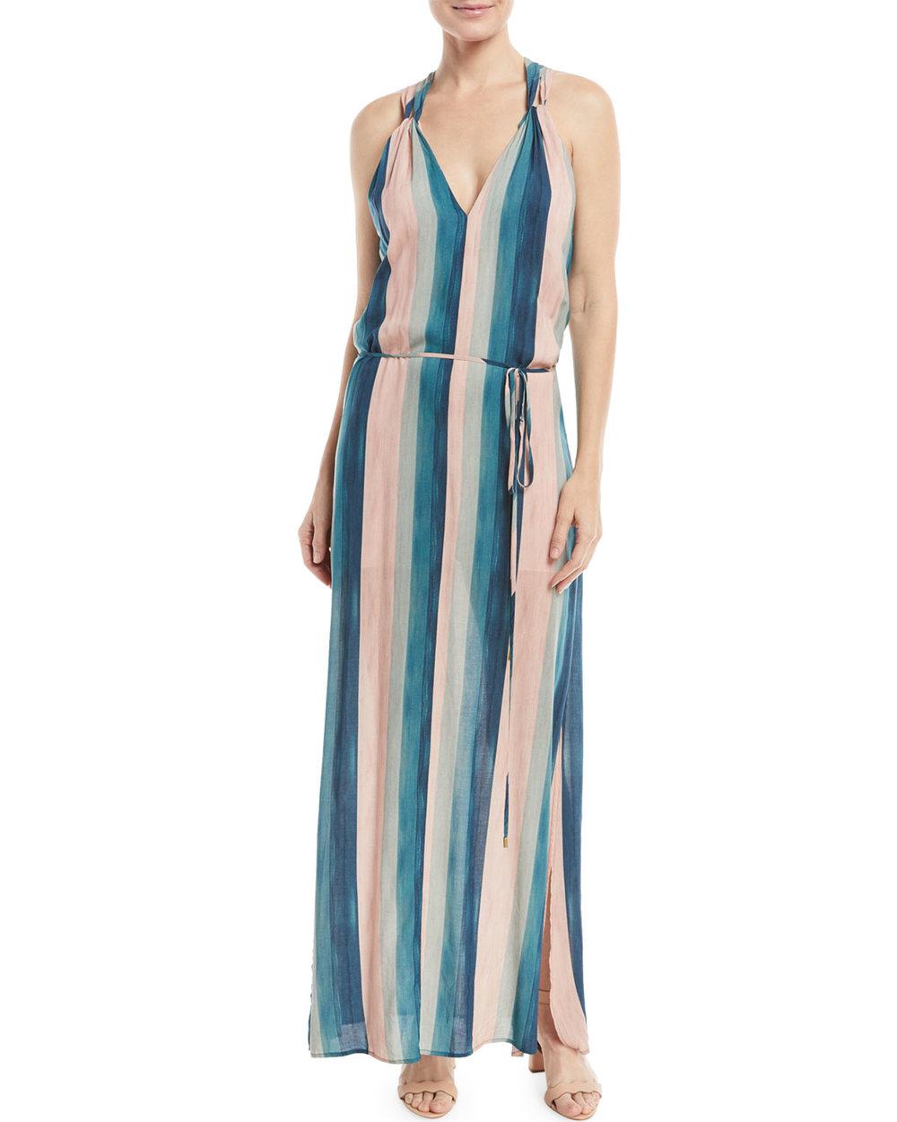 Striped Coverup Maxi Dress