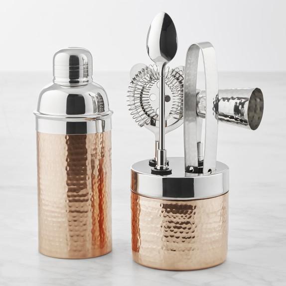Hammered Copper Bar Set