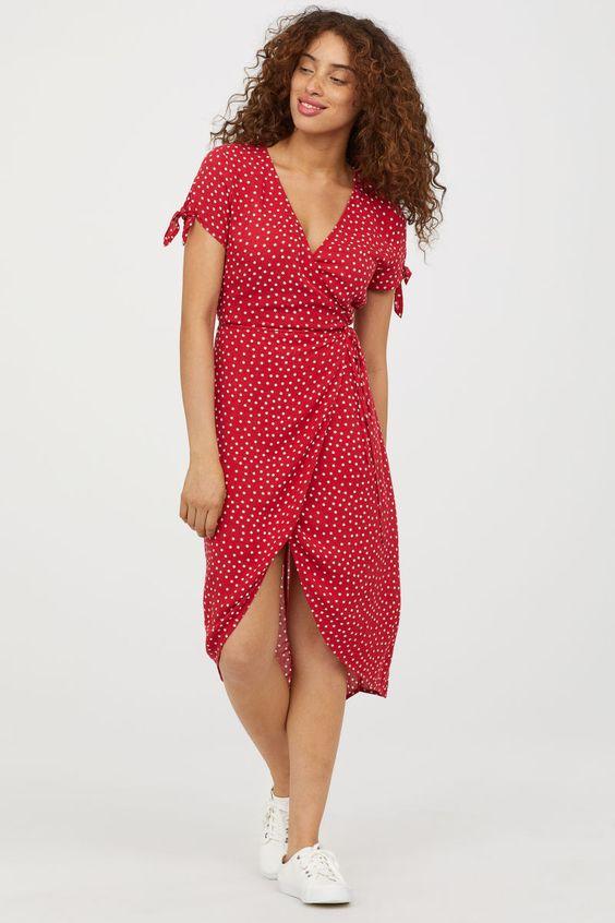 HM Red Print Dress.jpg