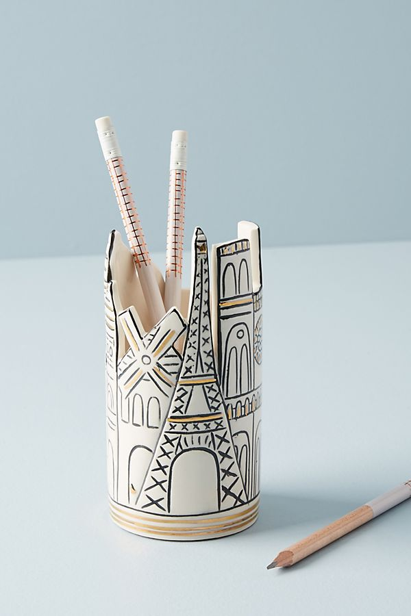 Cityscape Pencil Cup