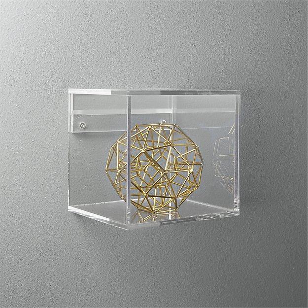 Acrylic Storage Cube Shelf