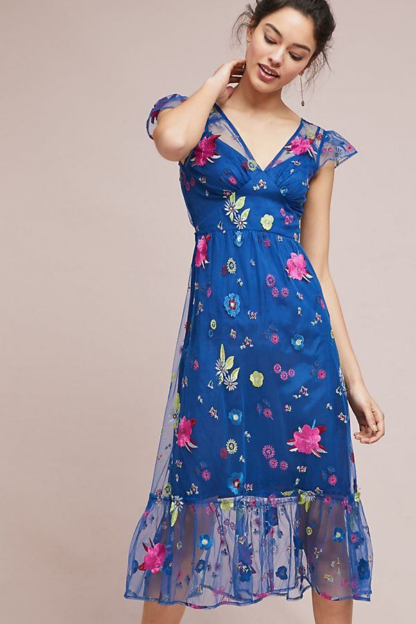 Topaz Floral Embroidered Dress
