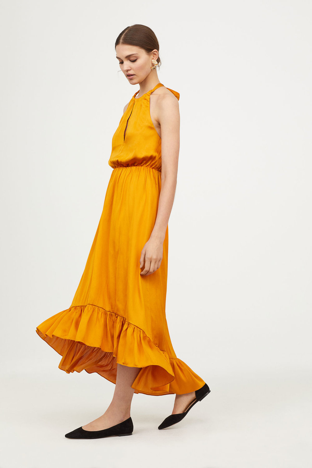 Halterneck Flounce Dress