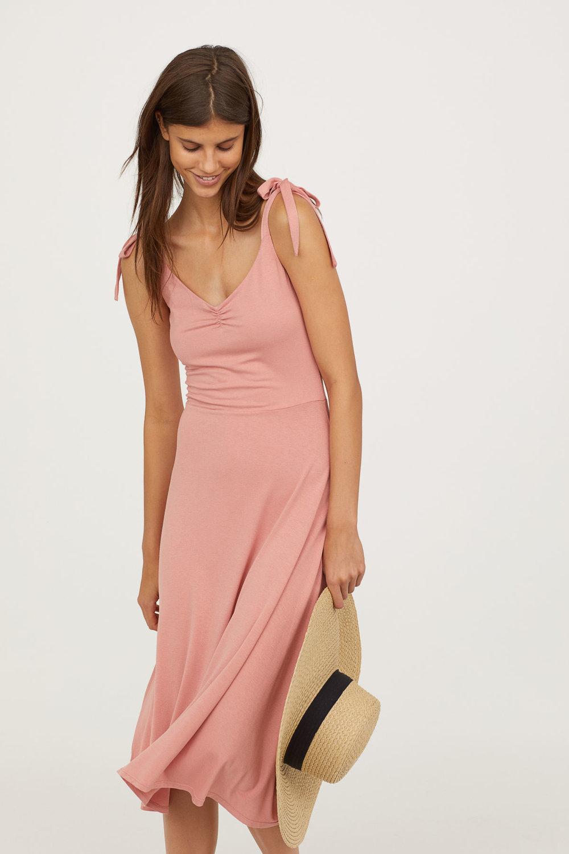 Jersey Tie-Strap Dress