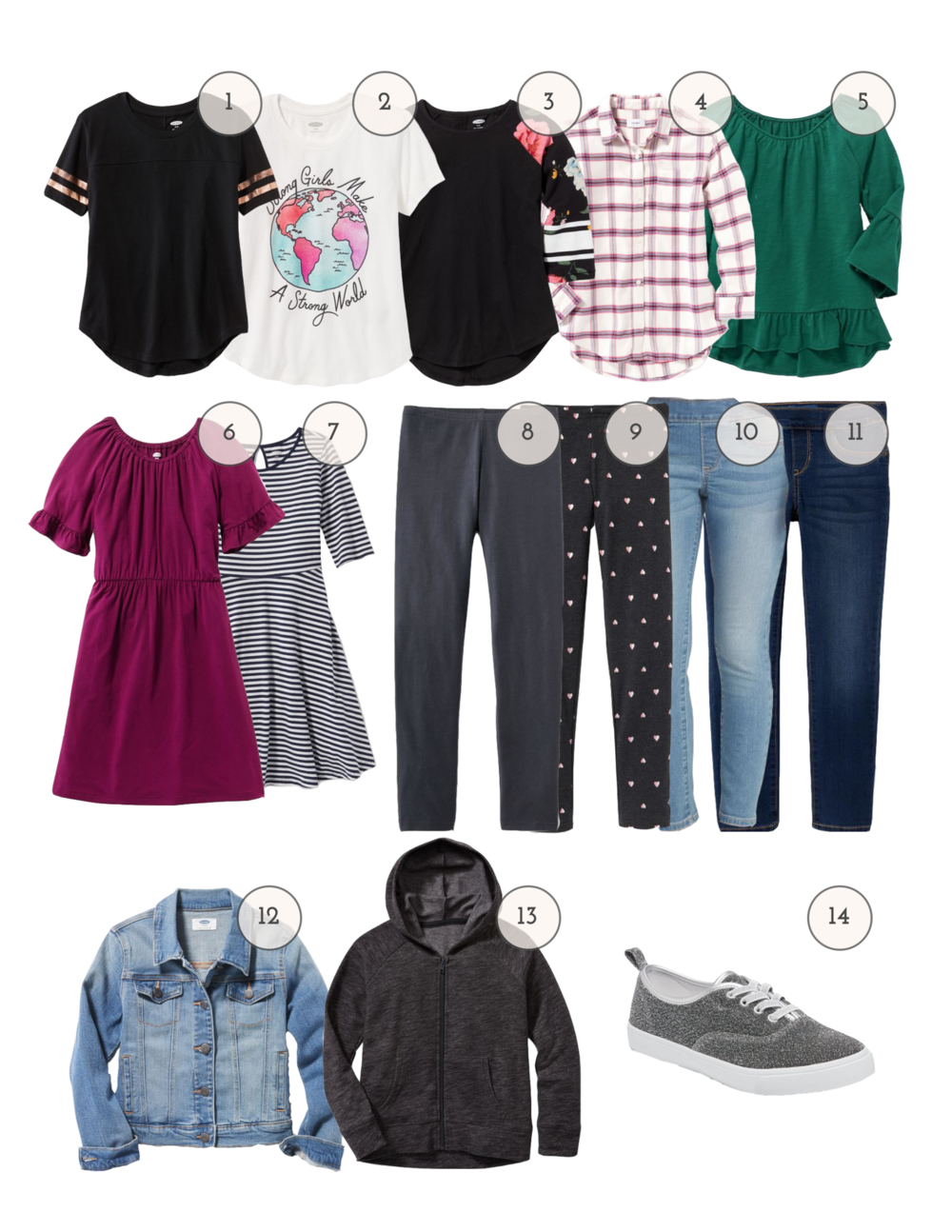 9c48164b1 Back-to-school Capsule Wardrobes for  150 at Old Navy — the artful ...