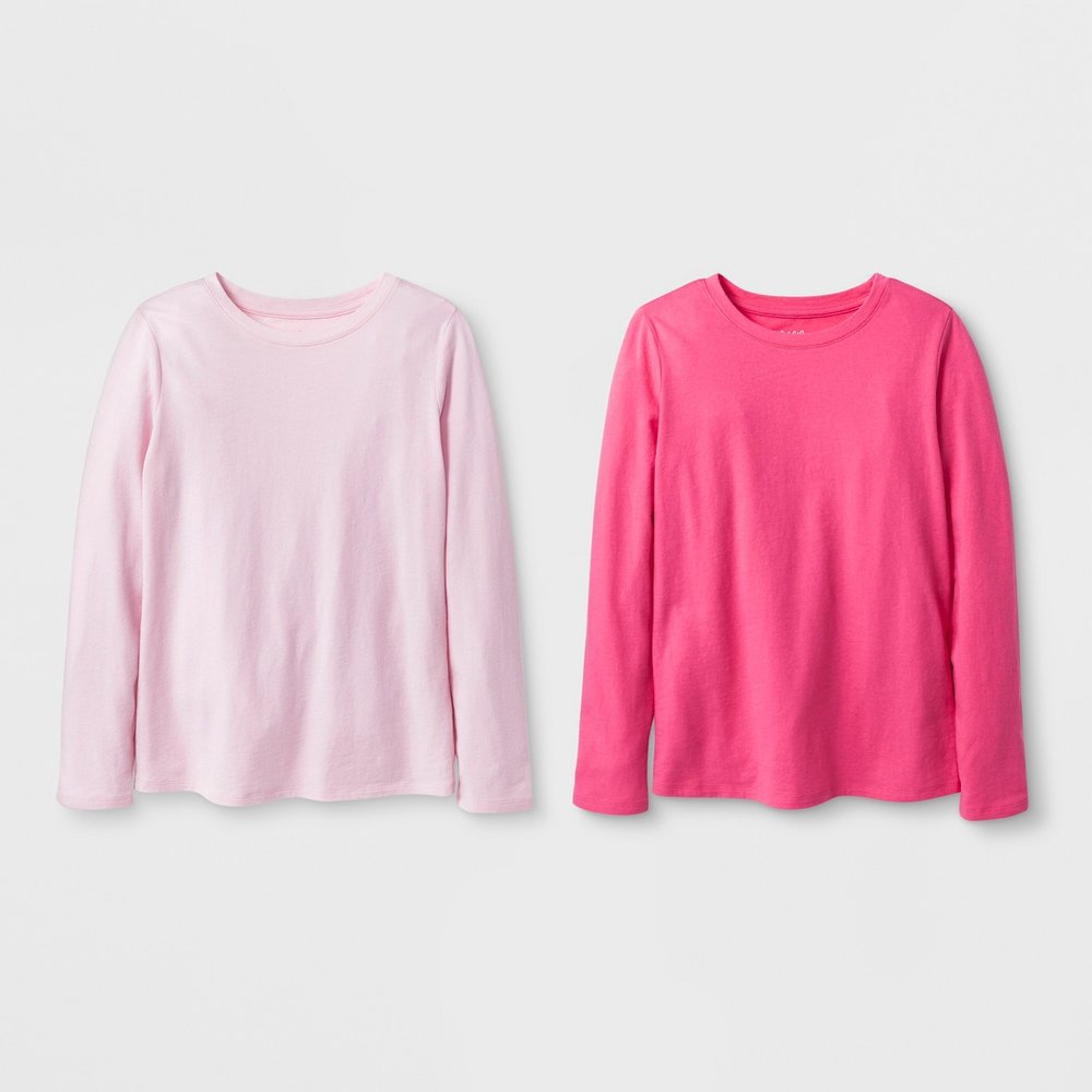 Girls' Long-Sleeve Shirt 2-Pack - $10
