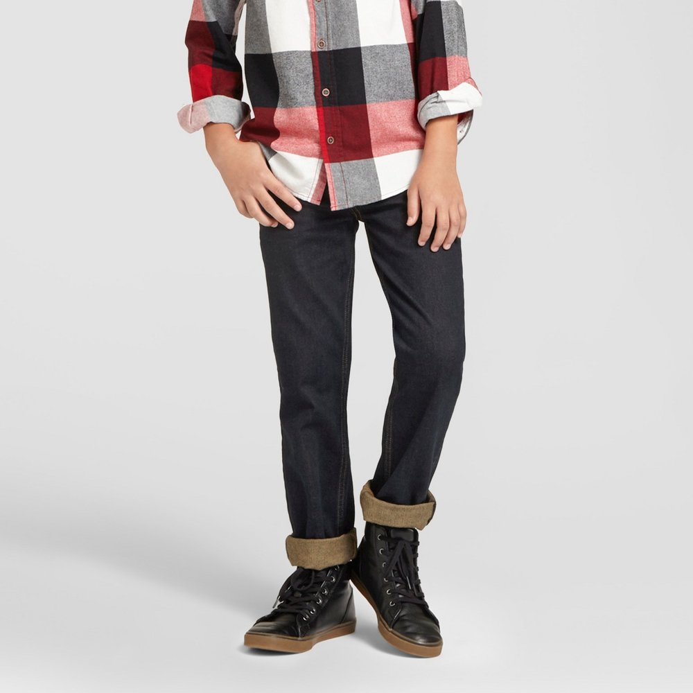 Boys' Dark Wash Straight-Leg Jeans - $13