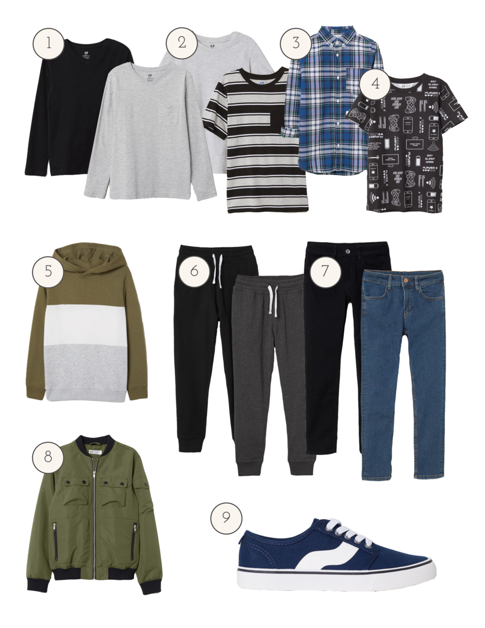 boys back-to-school capsule wardrobe
