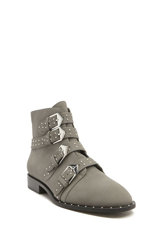 Forever 21: Studded Faux Leather Bootie - $40