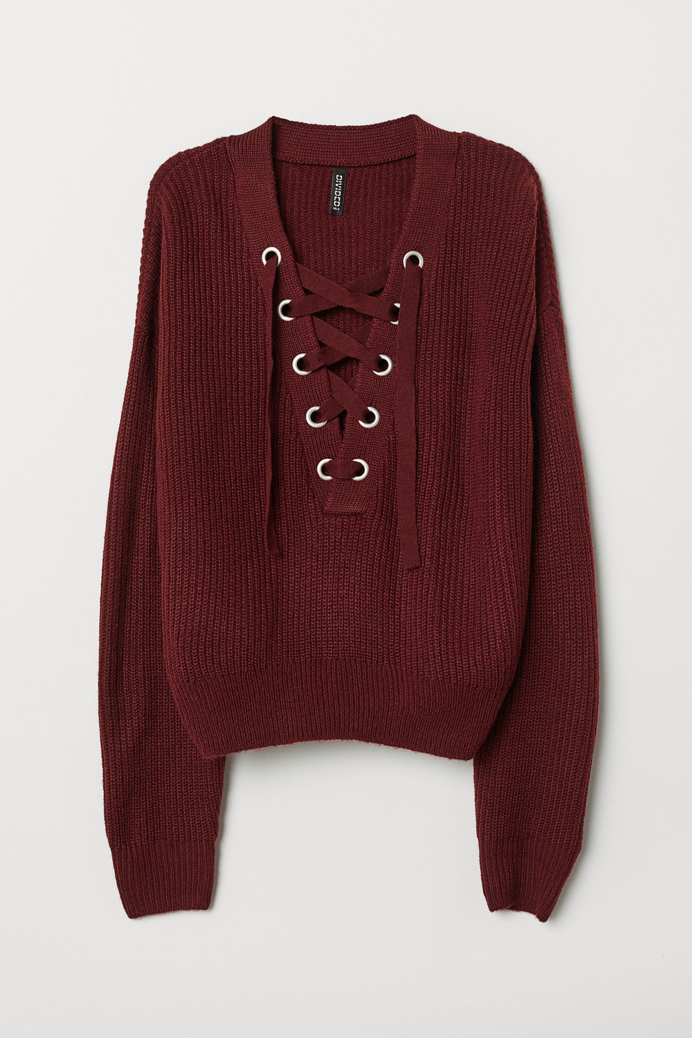 H&M: Knit Sweater with Lacing - $30