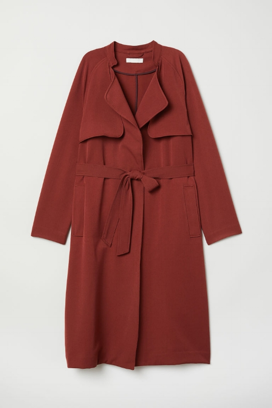 H&M: Soft Trench Coat - $60