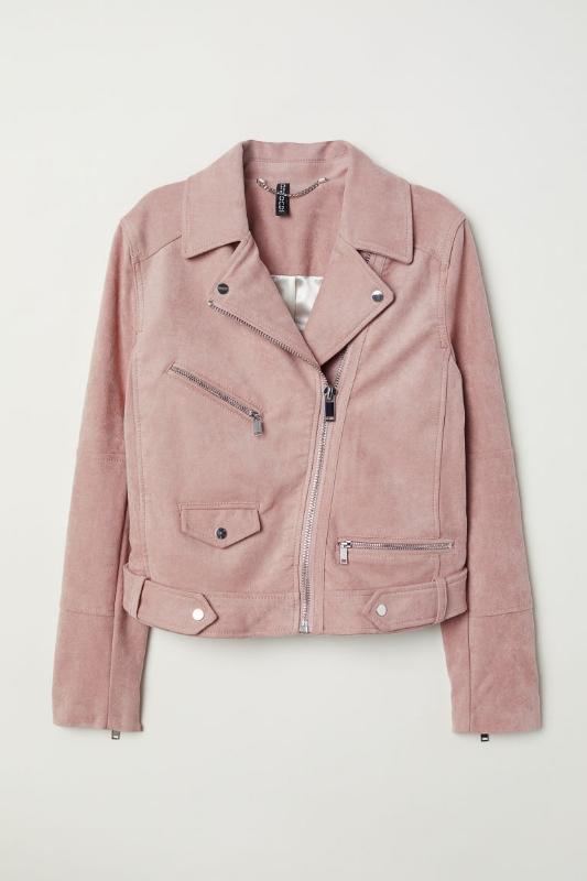 1. H&M: Faux Suede Biker Jacket - $70