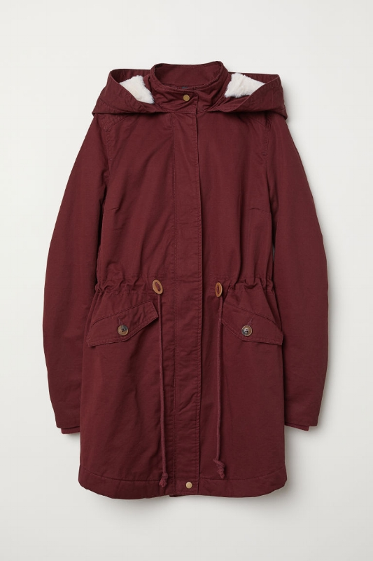 1. H&M: Padded Parka with Hood - $50