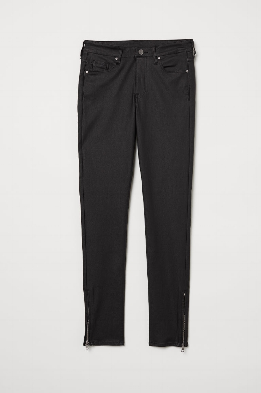 1. H&M: Skinny Coated Jeans - $30