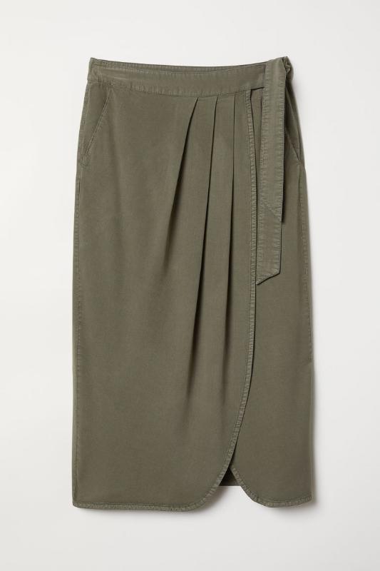 1. H&M: Lyocell-Blend Wrapover Skirt - $35