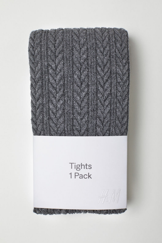 H&M: Textured Knit Tights: $15