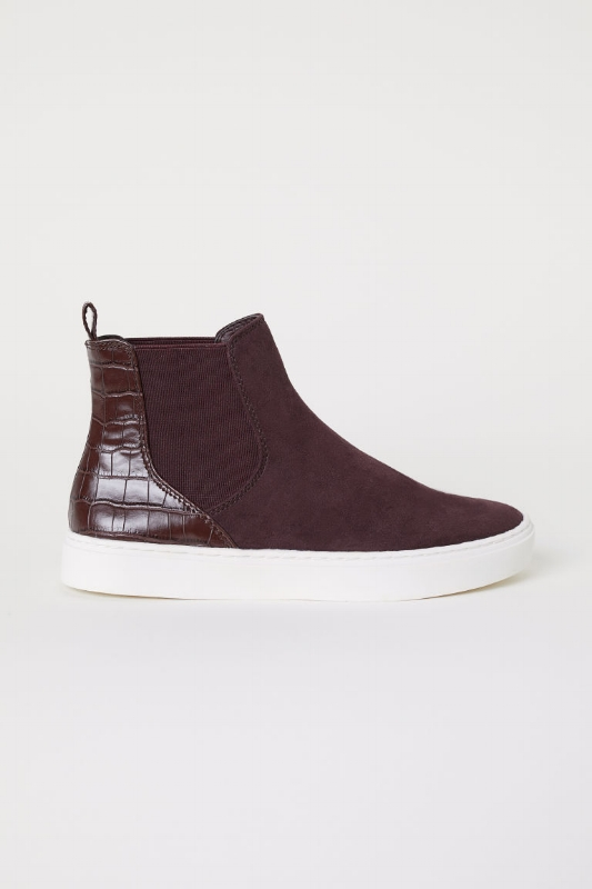 H&M: Faux Suede and Leather High Tops - $35