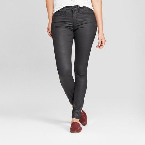 Target: Universal Thread High-Rise Coated Skinny Jeans - $28