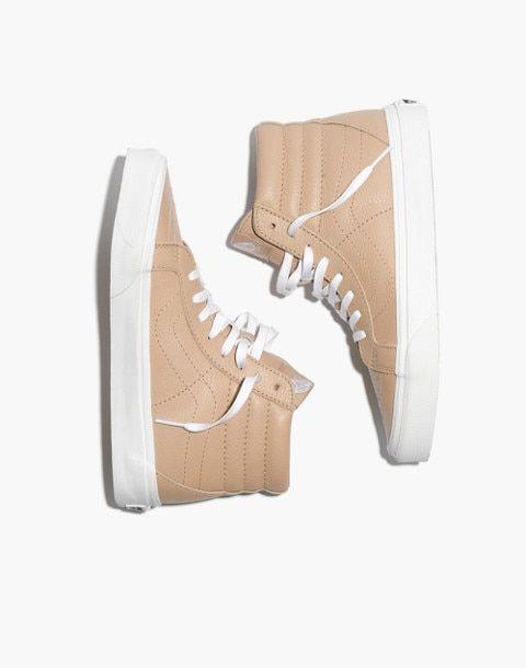 Madewell: Vans Sk8-Hi Leather Sneakers - $75
